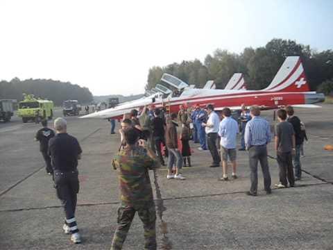 Last display of pilot Sigi Patrouille De Suisse @ Kleine-Brogel (B)