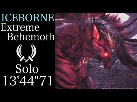 """【MHWI】極ベヒーモス 双剣ソロ 13'44""""71 /  Extreme  Behemoth Dual Blades Solo"""