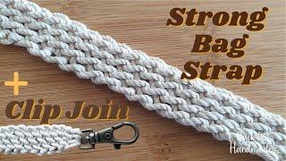 Easy Crochet Strong Bag Strap - Crochet Bag Handle - Πλεκτο Κορδονι Λουρί Τσάντας - Back to Handmade
