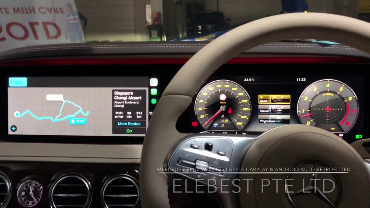 Mercedes-Benz W222 S320 Apple CarPlay & Android Auto Retrofitted