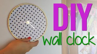 Diy Wall Clock For Your Dorm!
