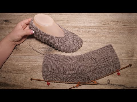 Следки «Лате Меланж» спицами ☕ Slippers «Late Melange» Knitting Pattern