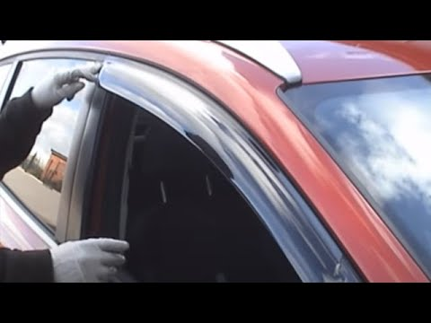 4x4 & Car Door Window Deflectors installation at 4x4at.com - YouTube