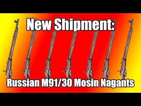 New Shipment of Russian M91/30 Mosin Nagant Rifles at Classic Firearms