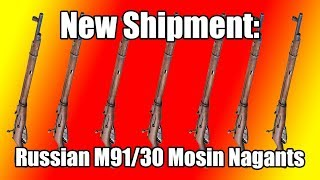 New Shipment of Russian M91/30 Mosin Nagant Rifles at Classic Firearms