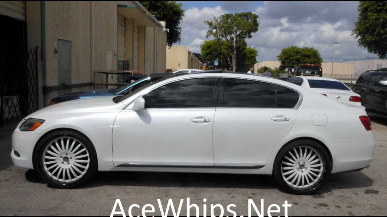 wtw customs white lexus gs300 on 22 gfgs youtube. Black Bedroom Furniture Sets. Home Design Ideas