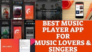 BEST MUSIC PLAYER APP 😘😍FOR MUSIC LOVERS AND SINGERS II WITH LYRICS🔥 II In Telugu II