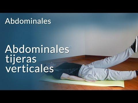 Ejercicios abdominales - tijeras verticales