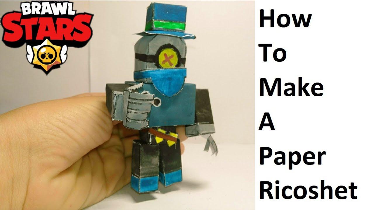 How to make a paper Ricoshet ( Brawl Stars ) Papercraft toy. Easy to make. Papercraft Brawl Stars
