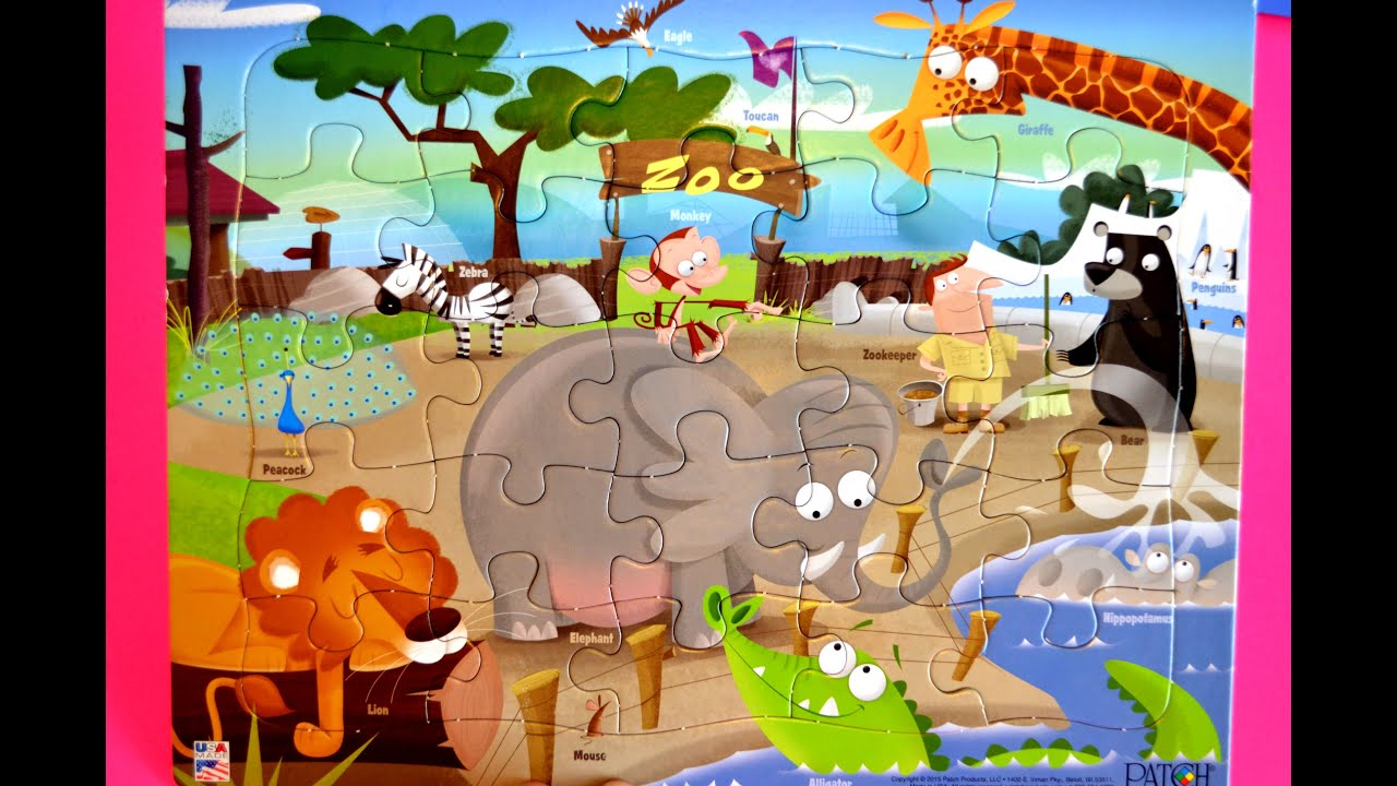 ZOO Animal Puzzle-names And Sounds Of Animal Learning Fun