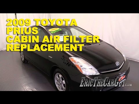 2003 2009 Toyota Prius Cabin Air Filter Replacement  EricTheCarGuy