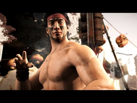 Mortal Kombat X - Liu Kang MK1 Costume Ladder Walkthrough and Ending