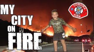 MY NEIGHBORHOOD ON FIRE!