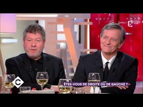 Régis Laspalès et Francis Huster, à droite à gauche - C à Vous - 24/01/2018
