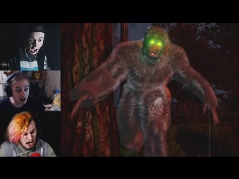 Реакции Летсплейщиков на Нападение Бигфута из Finding Bigfoot