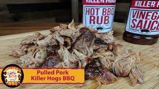 Pulled Pork with Killer Hogs Hot BBQ Rub and Vinegar Sauce on the Kamado Joe Classic