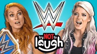 Download WWE Superstars React To Try To Watch This Without Laughing Or Grinning Mp3 and Videos