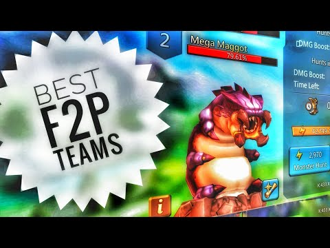 Lords Mobile - Best F2P Mega Maggot Monster Hunting Team