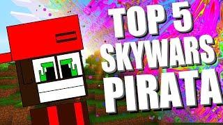 Minecraft : TOP 5 OS MELHORES SERVIDORES DE SKYWARS PIRATA (1.8 , 1.9 , 1.10 , 1.11 , 1.12)