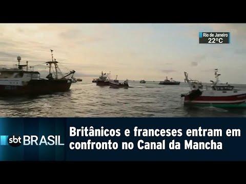 Britânicos e franceses entram em confronto no Canal da Mancha | SBT Brasil (29/08/18)