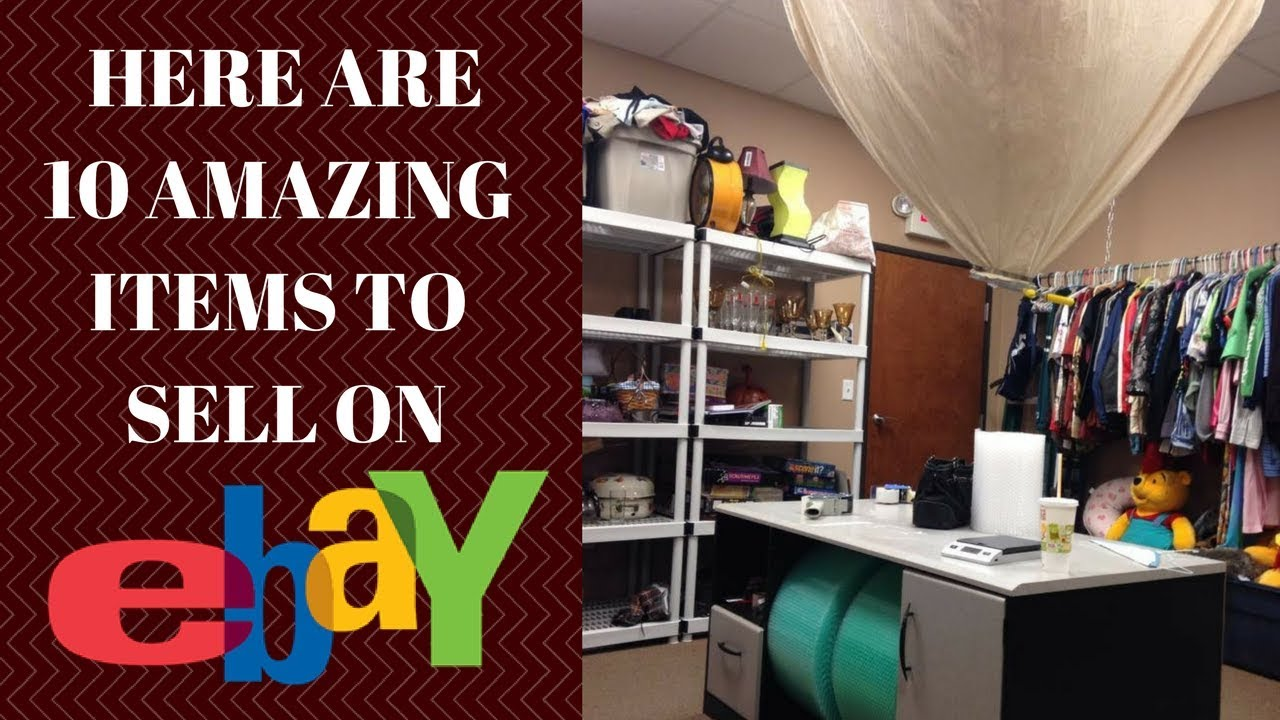 10 best items to sell on ebay - from garage sales