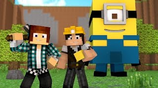 Minecraft : CONSTRUINDO OS MINIONS !! ( Build Battle)