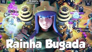 CLASH OF CLANS | RAINHA ARQUEIRA BUGADA - Isso sim é um BUG! - DidiGPX