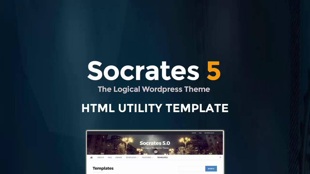 socrates html landing page template youtube. Black Bedroom Furniture Sets. Home Design Ideas