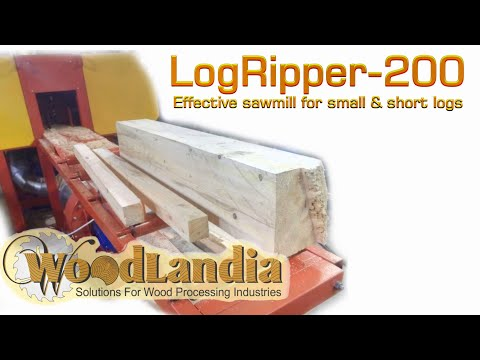 New Generation LogRipper-200 Sawmill For Pallet Boards (milling Short & Small Diameter Logs)