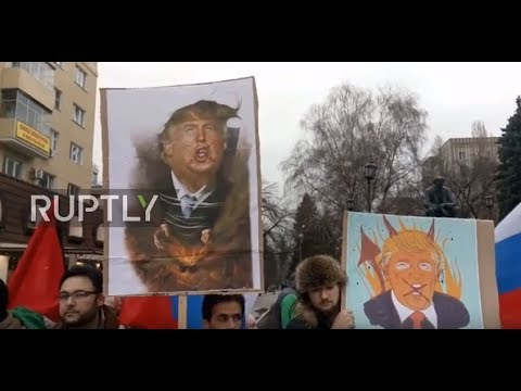 Russia: 'Jerusalem is the capital of Palestine' - Protesters decry US govt's Israeli policy