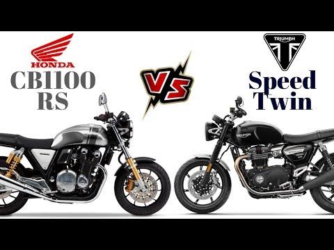 Honda Cb1100rs Vs Triumph Speed Twin видео онлайн
