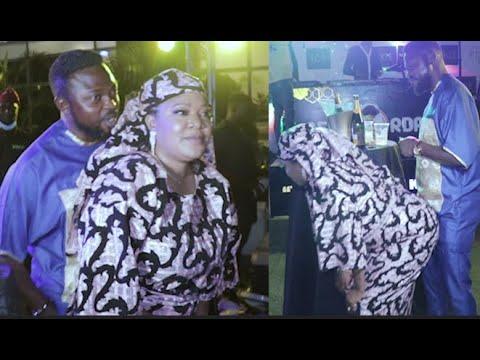 Download Toyin Abraham Got Her Husband, Kolawole Ajeyemi Smiling & Shy As She Dance & Whine For Him