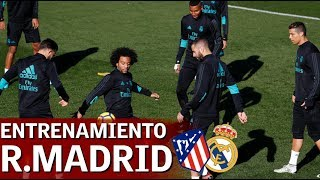 Entrenamiento completo Real Madrid previo al Atlético | Diario AS