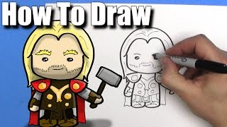 How To Draw Thor - EASY Chibi - Step By Step - Kawaii