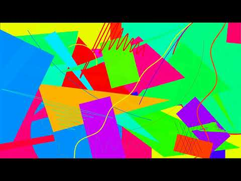 Pop colours Kandinsky style computer art, 1 hour full HD