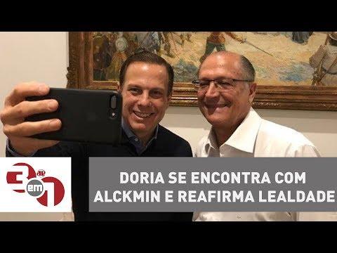 João Doria Se Encontra Com Geraldo Alckmin E Reafirma Lealdade