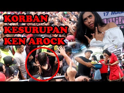 Ken Arock Feat Vivi Artika Support By Galluh Production Live In Tarokan Kediri (Penonton Kesurupan)