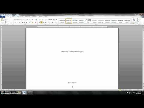 MLA Title Page Formatting Tutorial