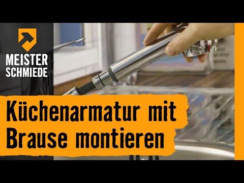 Kuchenarmatur Mit Brause Montieren Hornbach Meisterschmiede