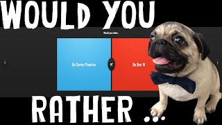 PLAYING WITH A PUG! | Would You Rather /w Zelda The Pug (Funny Moments)