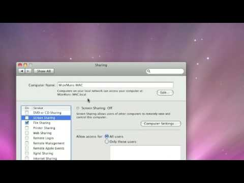 how to get screen sharing to work on mac