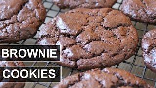 CHOCOLATE BROWNIE COOKIES || VEGAN || GF AND OIL FREE