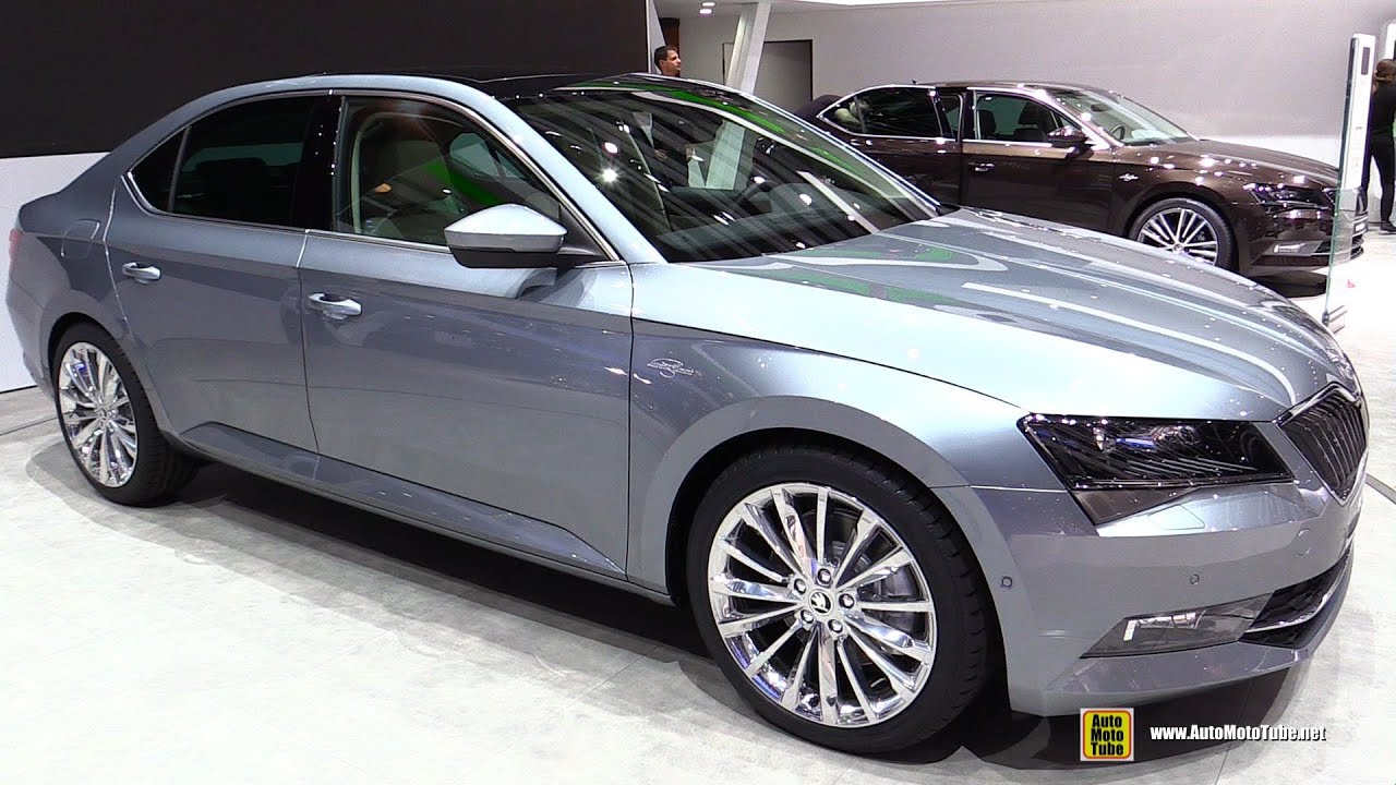 2016 skoda superb 4x4 laurin klement exterior walkaround 2015 geneva motor show youtube. Black Bedroom Furniture Sets. Home Design Ideas