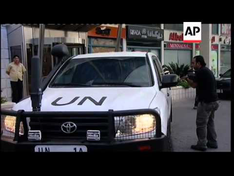 UN Observers heading out to visit trouble spots of Hama and Homs