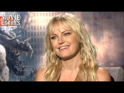 RAMPAGE  Malin Akerman talks about her experience making the movie