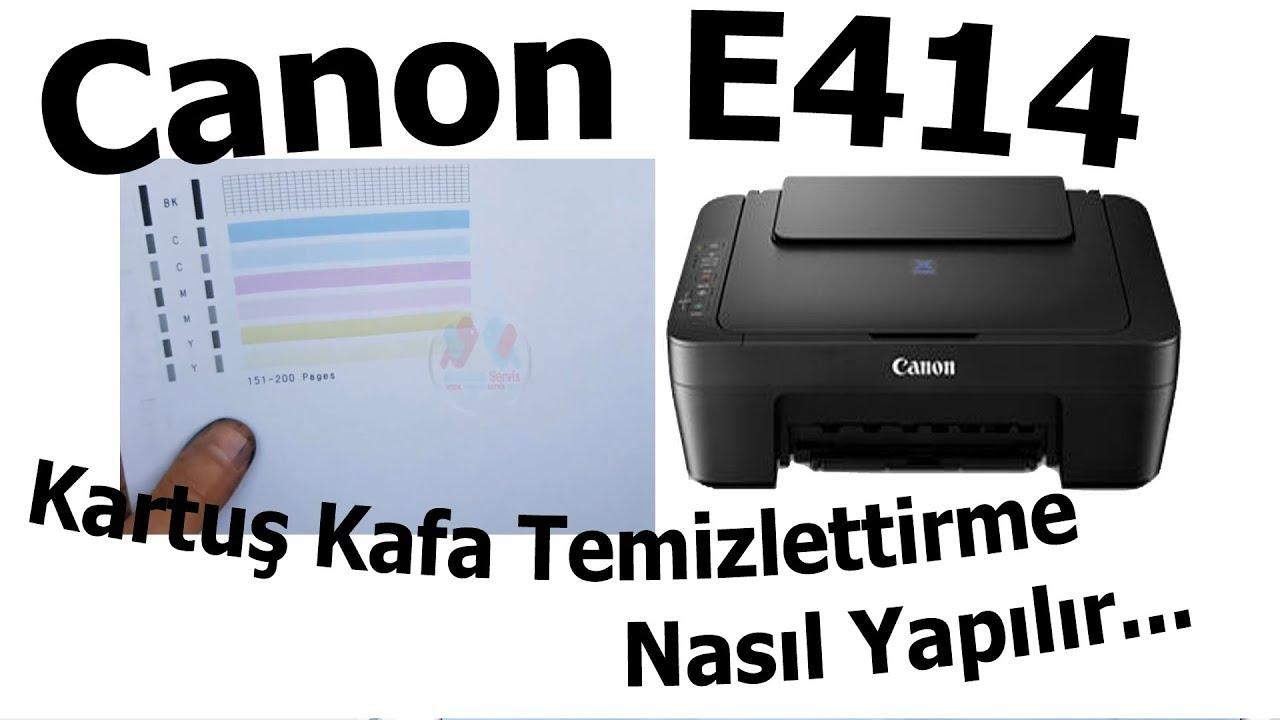 Canon E414 Kartuş Kafa Temizleme nasıl yaptırılır   Bölüm 496
