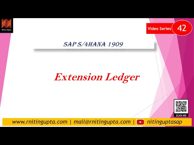 SAP S/4HANA 1909 - Extension Ledger