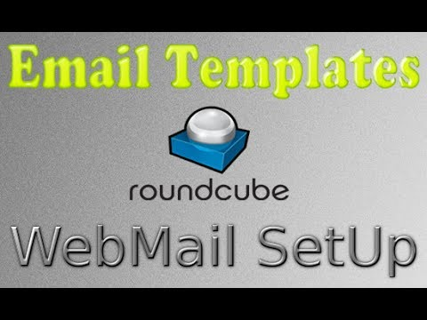 how to create a template email in roundcube (Webmail)