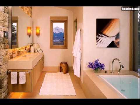 Steinwand Im Badezimmer Bringt Hütte Stil Zu Den Modernen Rahmen   YouTube