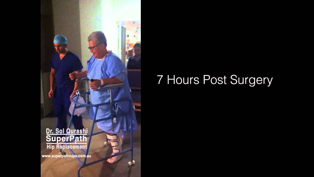 Hip Replacement   Walking After Surgery